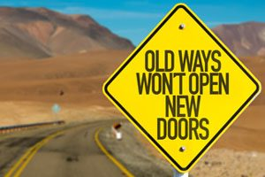 Signpost saying career change means opening new doors with the help of Mind-body energy medicine specialists to help
