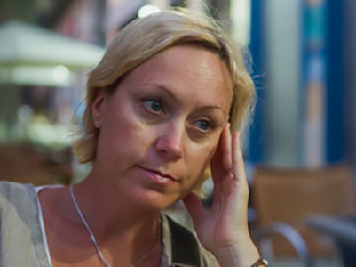 Woman thinking deeply about new learnings