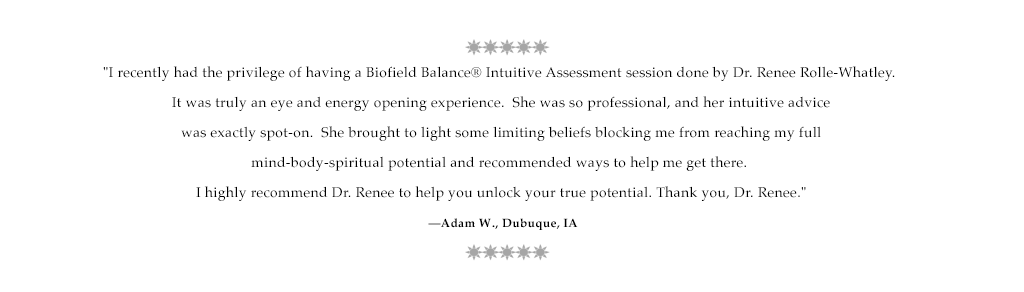 Testimonial for Dr. Renee from Adam W., IA